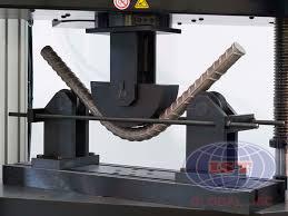 Hình 1: Thử uốn với thép tròn bằng máy kéo nén vạn năng 100 tấn -WANCE