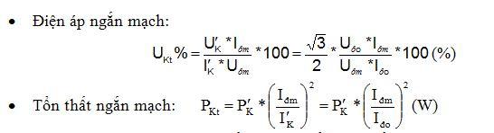 Qui đổi kết quả về giá trị định mức tại nhiệt độ đo